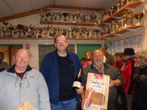Le podium : Bernard (1er), Didier (3ème) et Denis (2ème)