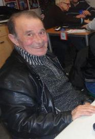 Gino au concours de belote en janvier 2014