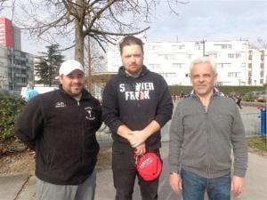 Michel, Julien et Gilles, vainqueurs du 1er concours