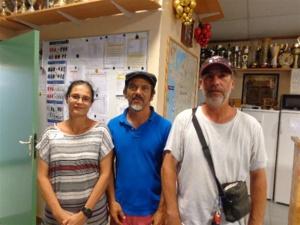 Pascale, Marie-Éric et Jean-Claude (SVCP) vainqueurs du B
