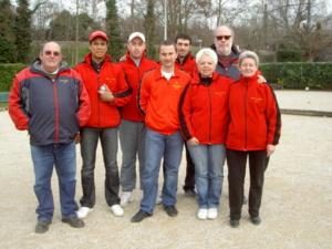 L'équipe SVCP 1 : Alain Petit (Sélectionneur / Coach), Éric Ranarijaona, Nicolas Le Gall, Sylvain Chevallier, Marc Chérit, Marie-Pierre Laude, Thierry Lepeuc, JosetteCastor