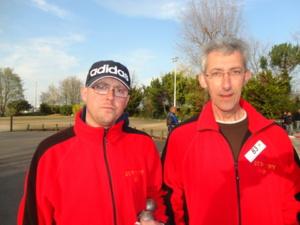 Xavier Legros et Jean-Pierre Mouret (photo d'archives)