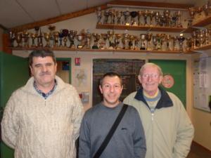 René (2ème), David (1er) et Michel (4ème)