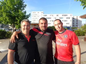 Manu, Seb et Nico,les finalistes du 1er. Manque Julien qui était parti.