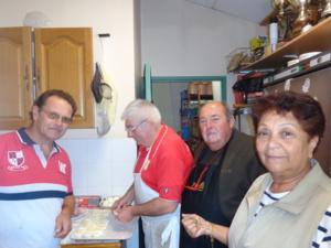 Riton, Gégé, Alain et Christine à l'office