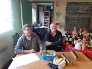 René Gardet et Pascal Izanic à la table