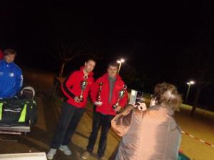 Nico et René avec leurs récompenses