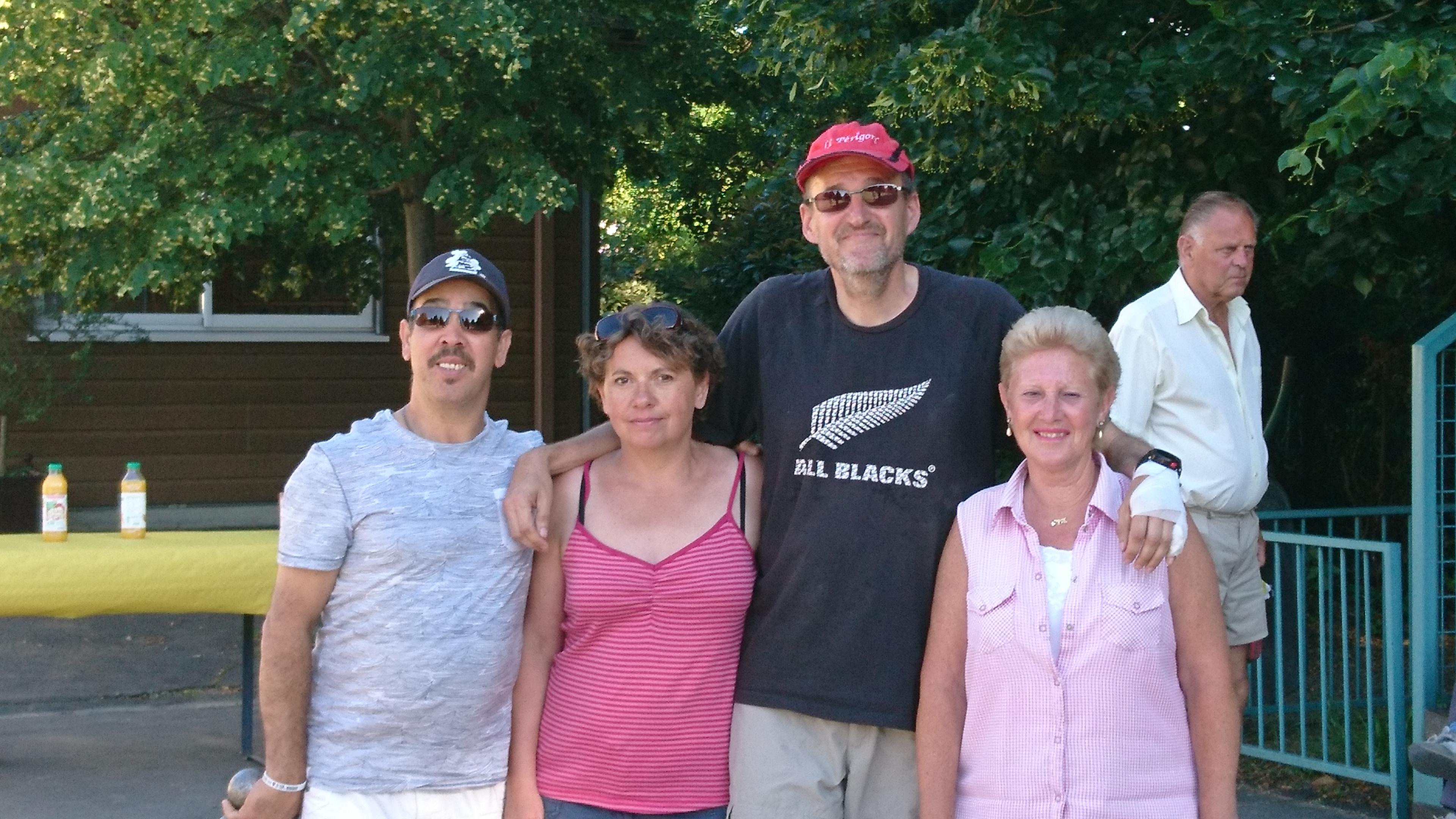 Aziz, Isabelle, Didier et Annie