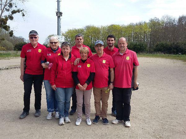 L'équipe SVCP vainqueur à Saulx