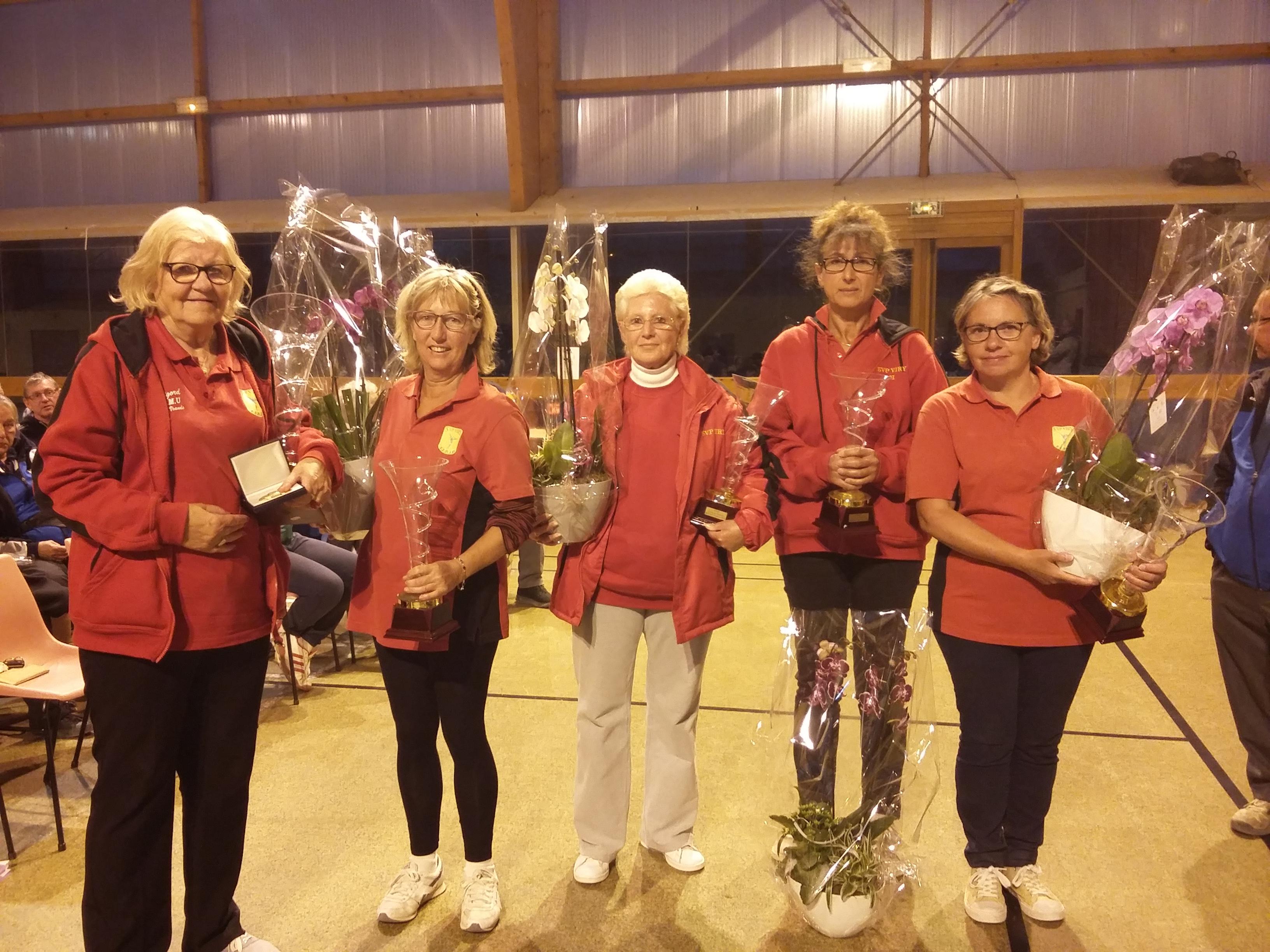 Christiane, Fabienne, Annie et Annie, Isabelle