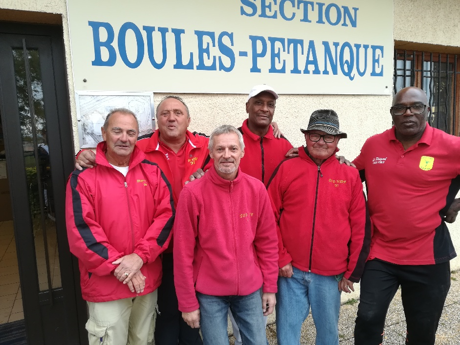 Les sélectionnés SVCP 2 : Roland, Vincent, Richard, Grégoire, Jacky et Privat