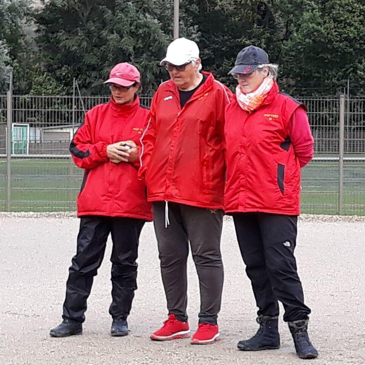 L'équipe féminine SVCP 2 défaite à Brunoy Sauvageon, Pascale, Christiane et Florence. Sur la photo, manque Valérie Santo