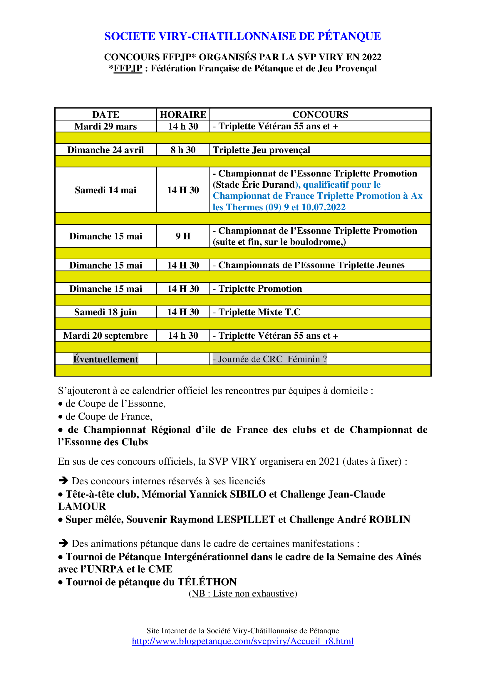 Concours SVCP 2019