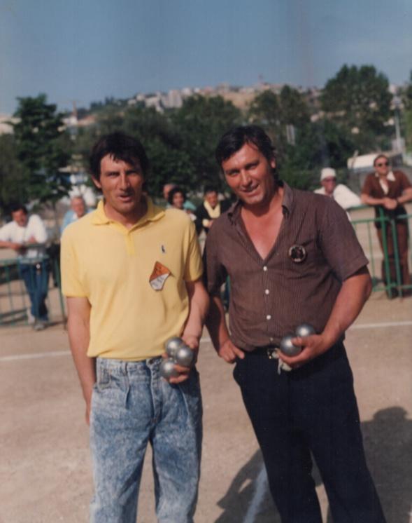Les finalistes du bec à bec des Alpes-Maritimes 1988 Fernand RIVIERE et Daniel ARMANDO