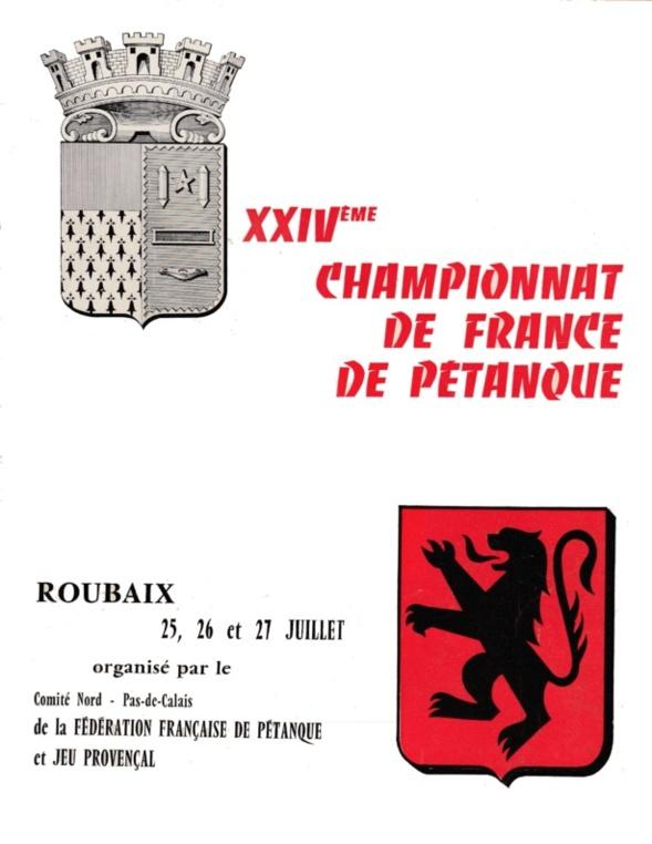 Tous les joueurs qualifiés au Championnat de France triplettes de 1969 à 2017