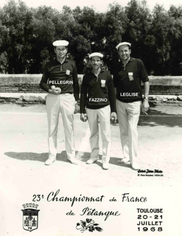 1968 championnat de France triplettes  à TOULOUSE