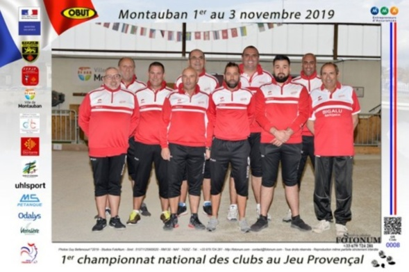 L'équipe de l'Association sportive de Mouans-Sartoux championne de France des clubs au Jeu Provençal