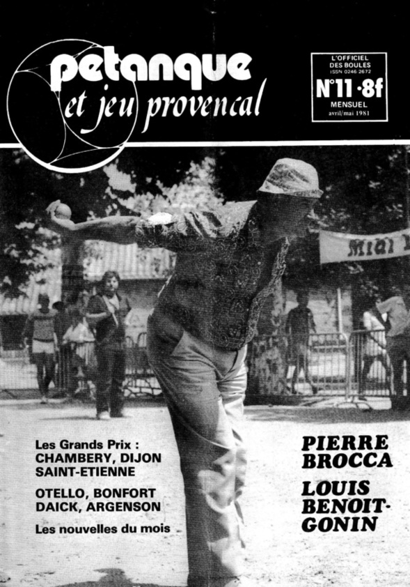 PETANQUE ET JEU PROVENCAL DE 1980 A 1982