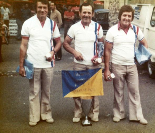 Champion triplettes honneur F.S.G.T. 1973
