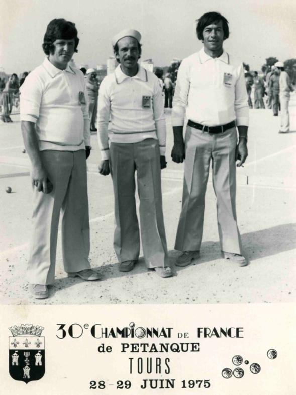Les champions triplettes des Alpes-Maritimes 1975