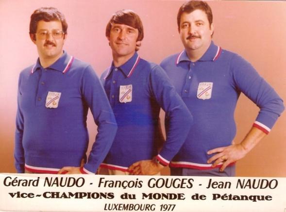 La sélection française pour les championnats du monde 1977