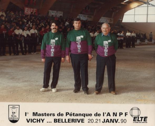 L' équipe du 06 CARLIN - ARMANDO - CHECCONI à la finale de l' A.N.P.F. 1990