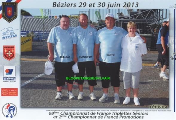 Les demi-finalistes triplettes du 06