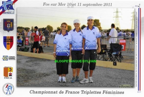Les vices championnes triplettes du 06