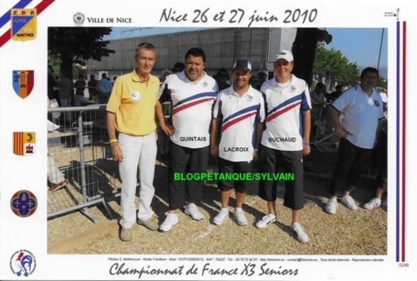 L'année 2010 à la Pétanque