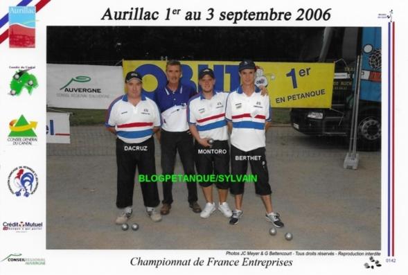 Les champions triplettes entreprises du 06