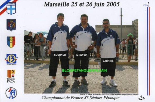 Les vices-champions triplettes du 06