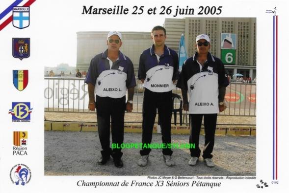 Les quarts-finalistes triplettes du 06