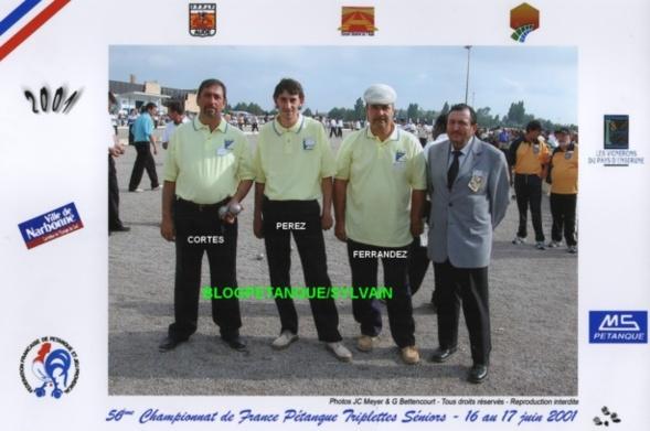 L'année 2001 à la Pétanque
