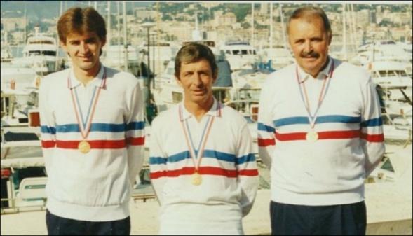 Les champions de France triplettes au Jeu Provençal 1991 > Eric VLADISCOVITCH - Benoit FORTUNA - Francis COSTE