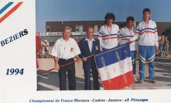 Les champions de France juniors 1994 > Nicolas RIVIERE - Antoine CANO - Daniel RIZO
