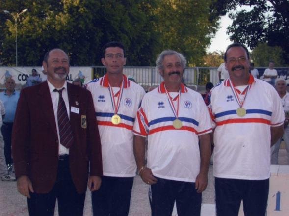 Les champions de France corporatifs 2000 > Pierre POILBARBE - Daniel SAVERINO - Alain GIRAUDO