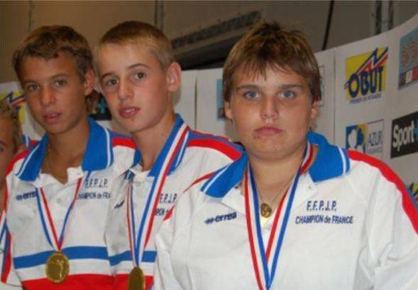 Les champions de France cadets 2006 > Maxime DETRY, Julien DURANDO et Anne-Emilie ARMANDO
