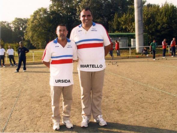 Les champions de France 2006 doublettes au Jeu Provençal > Rocco URSIDA et Christophe MARTELLO