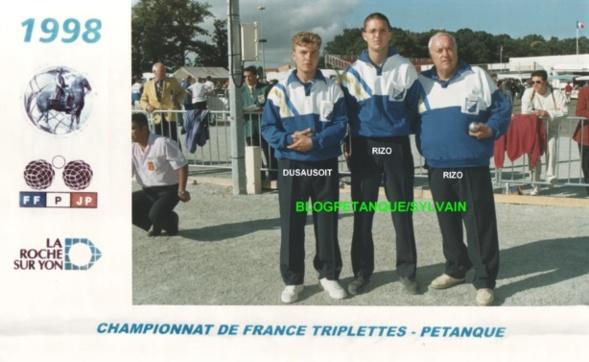 L'année 1998 à la Pétanque