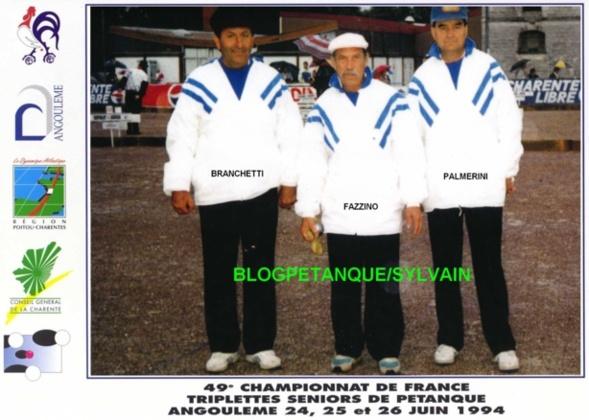 Les qualifiés triplettes par la ligue du 06