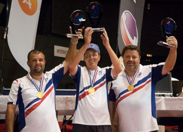 Les champions de France triplettes 2009 > Philippe SUCHAUD - Henri LACROIX et Philippe SUCHAUD