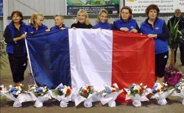 L'équipe de Cannes Aéro-Sports championne de France des clubs féminin 2015