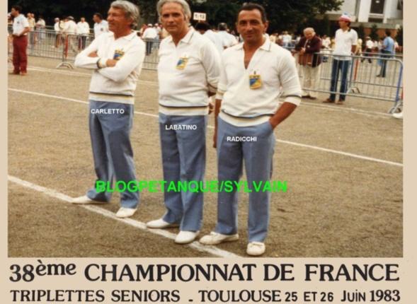 L'année 1983 à la Pétanque