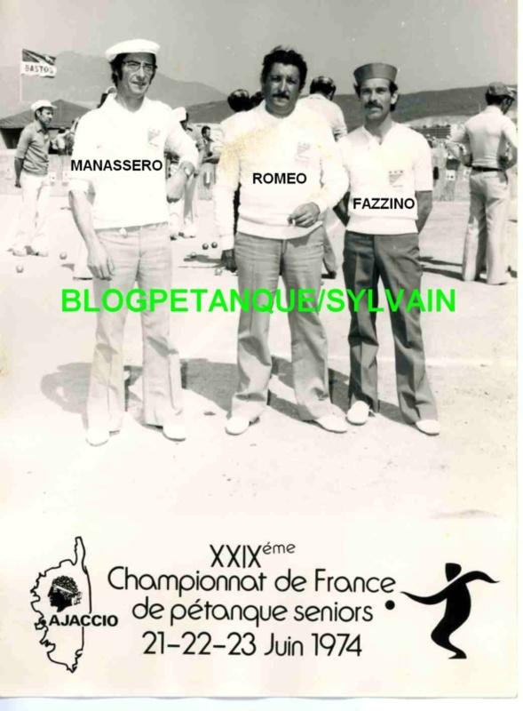 L'année 1974 à la Pétanque