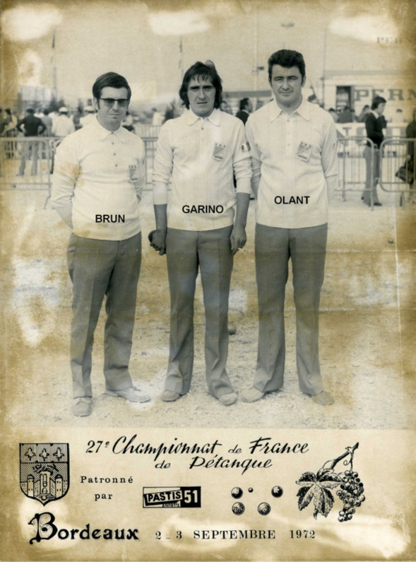 L'année 1972 à la Pétanque