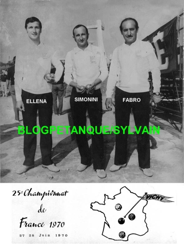 L'année 1970 à la Pétanque