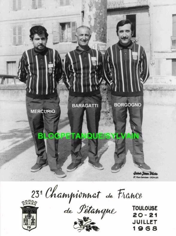 L'année 1968 à la Pétanque