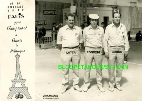 L'année 1967 à la Pétanque