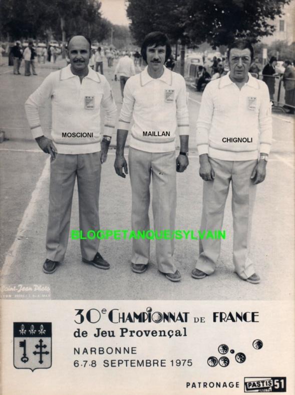 Les vices champions triplettes du 06 qui s'inclineront en demi du championnat de France