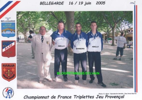 L'année 2005 au Jeu Provençal